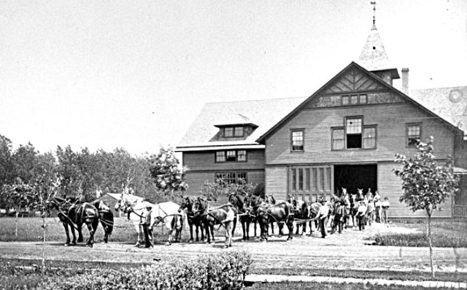 The Agricultural Experiment Station at North Dakota State University in Fargo opened in 1890. (Courtesy of University Archives, NDSU)