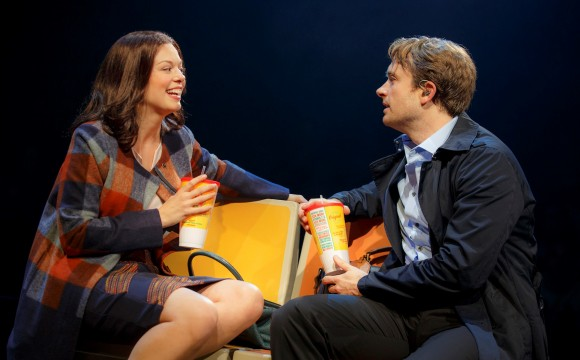 Jane (Margo Seibert) and Nate (James Snyder) in a budding romance in