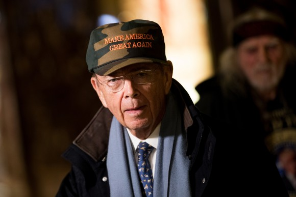 Wilbur Ross, President-elect Donald Trump's choice for Commerce Secretary at Trump Tower in New York City on Nov. 29, 2016. (Drew Angerer/Getty Images)