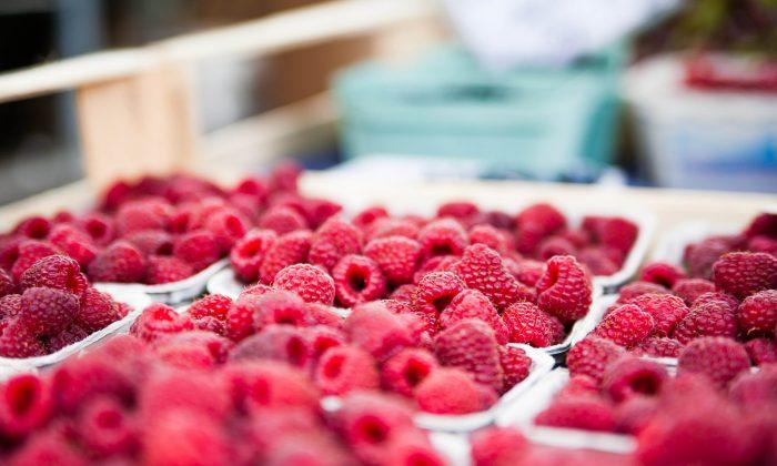 Raspberries in a stock photo (ejaugsburg/shutterstock)