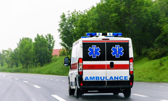 A stock photo of an ambulance. (OgnjenO/shutterstock)