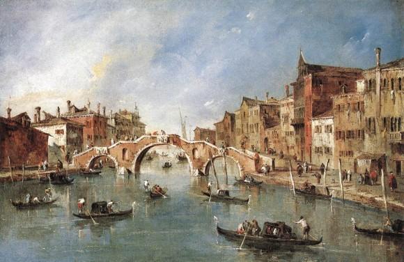 """View on the Cannaregio Canal,"" circa 1775–1780, by Francesco Guardi. Oil on canvas. (Public Domain)"