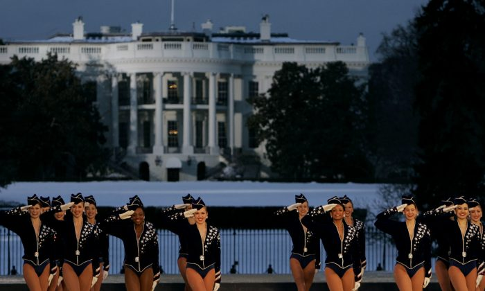 Rockettes perform during the Celebration of Freedom Concert on the Ellipse, with the White House in the background in Washington, in this file photo. (AP Photo/Chris Gardner, File)