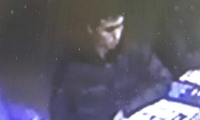 This image taken from CCTV provided by Haberturk Newspaper Monday Jan. 2, 2017, shows the man identified by police as the main suspect in the New Year's Day terror attack at an Istanbul nightclub, earlier that night before the attack. (CCTV/Haberturk Newspaper via AP)