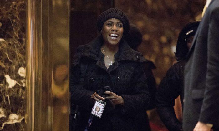 Omarosa Manigault arrives at Trump Tower, in New York on  Jan. 2, 2017.  (AP Photo/Andrew Harnik)