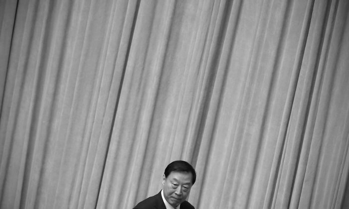 Former Jiangsu Provincial Communist Party Secretary Luo Zhijun at the Great Hall of the People in Beijing on March 15, 2015. A source familiar with the officialdom in Jiangsu Province said that officials have been ignoring orders from the central government. (Feng Li/Getty Images)