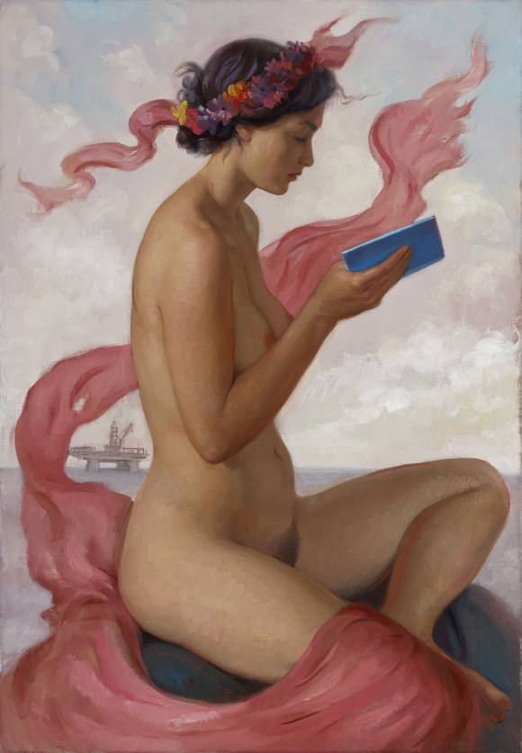 """""""Pink Sibyl,"""" 2015, by Patricia Watwood. Oil on linen, 20 by 14 inches. (Courtesy of Patricia Watwood)"""