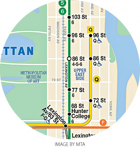 The new portion of the Q line from 63rd Street to 96th Street.