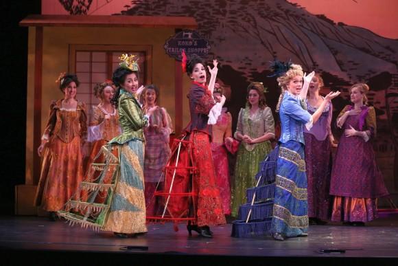 L to R:Quynh-My Luu as Yum-Yum, Jessica Rose Futran as Pitti-Sing, Lauren Frankovich as Peep-Bo. ( Carol Rosegg)