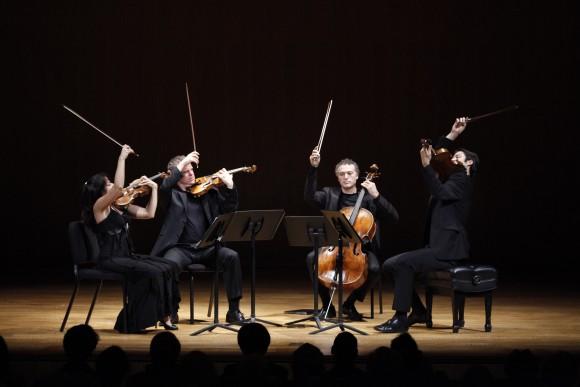 Pacifica Quartet first violinist Simin Ganatra, second violinist Sibbi Berhardsson, violist Masumi Per Rostad, and cellist Brandon Vamos. (Richard Termine)