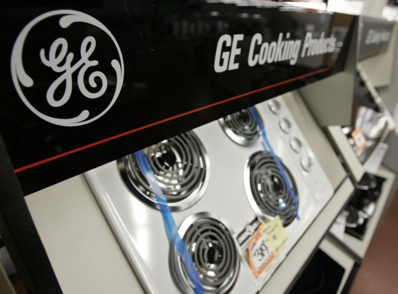 A General Electric stove on sale at a store in Mountain View, Calif., in this file photo.  (AP Photo/Paul Sakuma)