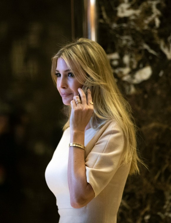 Ivanka Trump walks through the lobby of Trump Tower in New York City on Nov. 11, 2016. (Drew Angerer/Getty Images)