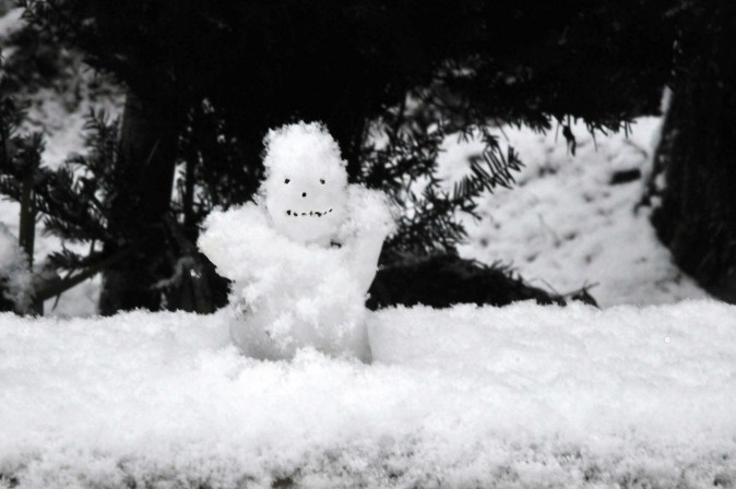 Figure 14 Taadaa... snowman in action (Sun Mingguo/Epoch Times)