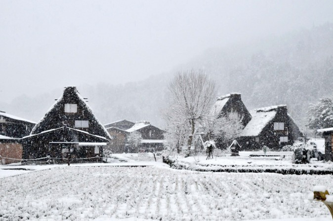 Figure 7 Shirakawa-go is scattered with traditional farmhouses called gassho-zukuri.(Sun Mingguo/Epoch Times)