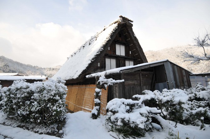 Figure 11 A gassho-zukuri is a wooden house with a steep thatched roof that resembles two hands clasped together in prayer. (Sun Mingguo/Epoch Times)