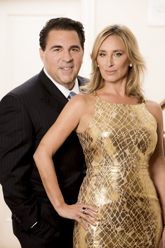 Dr. Christopher Calapai and Sonja Morgan from the cast of Real Housewives of New York. (Courtesy of Dr. Christopher Calapai)