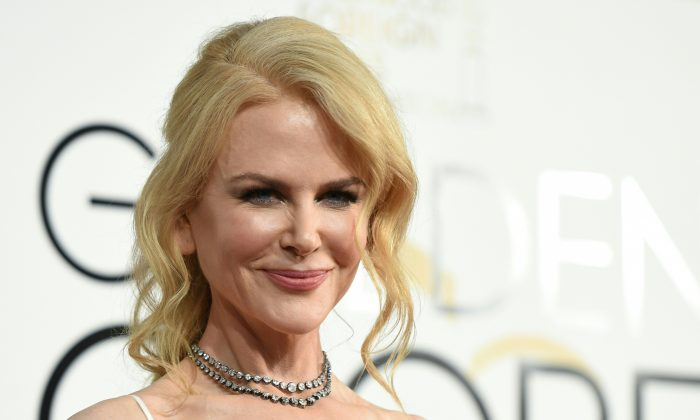 Nicole Kidman arrives at the 74th annual Golden Globe Awards at the Beverly Hilton Hotel in Beverly Hills, California on Jan. 8, 2017. (VALERIE MACON/AFP/Getty Images)