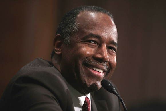 Secretary of Housing and Urban Development-designate Ben Carson testifies during his confirmation hearing before Senate Banking, Housing and Urban Affairs Committee on Capitol Hill in Washington, DC on Jan. 12, 2017. (Alex Wong/Getty Images)
