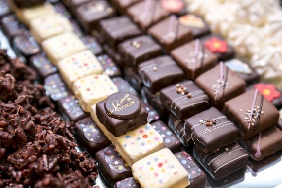 Chocolates from Bologna, Italy at the Ospitalita Italiana event at the Metropolitan Pavillion in Manhattan, New York, Sept. 24, 2014. (Samira Bouaou/Epoch Times)