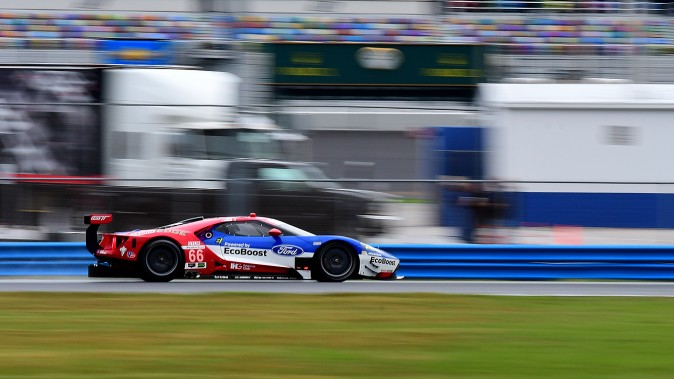 The #66 Ford Chip Ganassi Racing Ford GT was sixth in GTLM and third quickest of the four Ford GTs. (Bill Kent/Epoch Times)