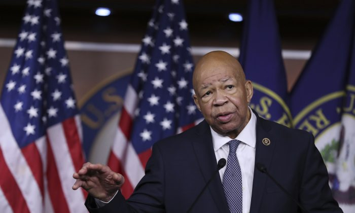 Rep. Elijah Cummings, D-Md. during a news conference on Capitol Hill in Washington on Jan. 12, 2017. (AP Photo/Manuel Balce Ceneta)