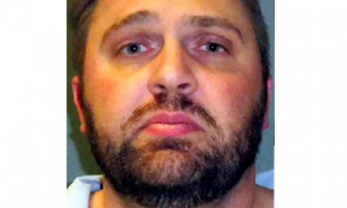 This Thursday, Dec. 22, 2016, released by the Garfield County, Colo., Sheriff's Office shows Craig Vandewege who was arrested in Colorado on capital murder charges for the slayings last week of his wife and their 3-month-old son at their Texas home. Fort Worth authorities say the 35-year-old Vandewege was pulled over for a traffic stop in Glenwood Springs, Colo., after police received a call Wednesday night, Dec. 21, that a man at a convenience store was talking about a murder. (Garfield County, Colo., Sheriff's Office via AP)
