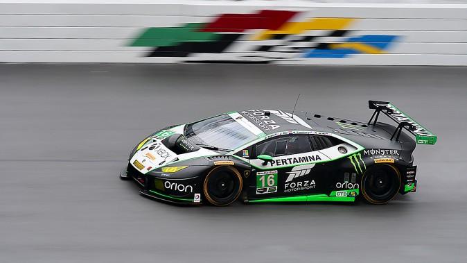 The #16 Change Racing Lamborghini Huracan GT3 was third fastest in GTD. (Bill Kent/Epoch Times)