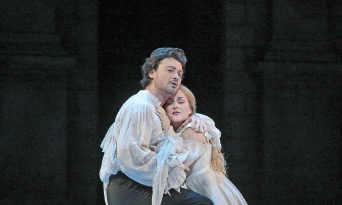 "Vittorio Grigolo as Roméo and Diana Damrau as Juliette have tremendous chemistry in ""Gounod's ""Roméo et Juliette."" (Ken Howard/Metropolitan Opera)"