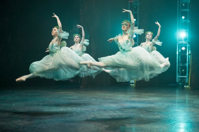 Dancers of the English National Ballet perform 'Giselle' on stage at the Coliseum in London on Jan. 13. (Ian Gavan/Getty Images)