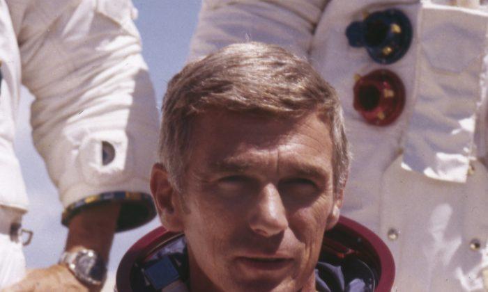 US  Navy Commander and Astronaut. Cernan. (NASA via AP)