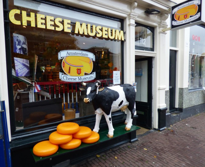 The Amsterdam Cheese Museum features the history of cheese-making and specialty cheeses in the Netherlands.  (Manos Angelakis)