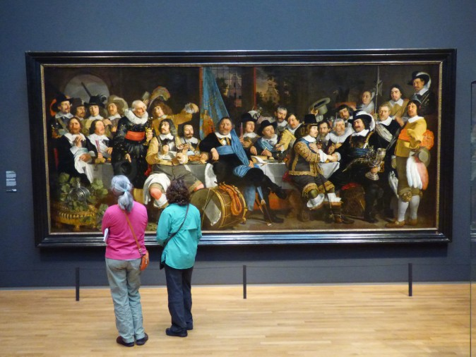 A work displayed at Amsterdam's renowned  Rijksmuseum. (Manos Angelakis)