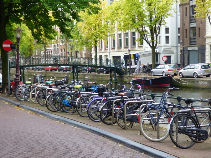 Bicycles are ever-present in Amsterdam. (Manos Angelakis)