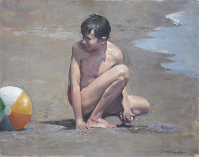 """Beach Ball"" by Burton Silverman (Courtesy of Burton Silverman)"