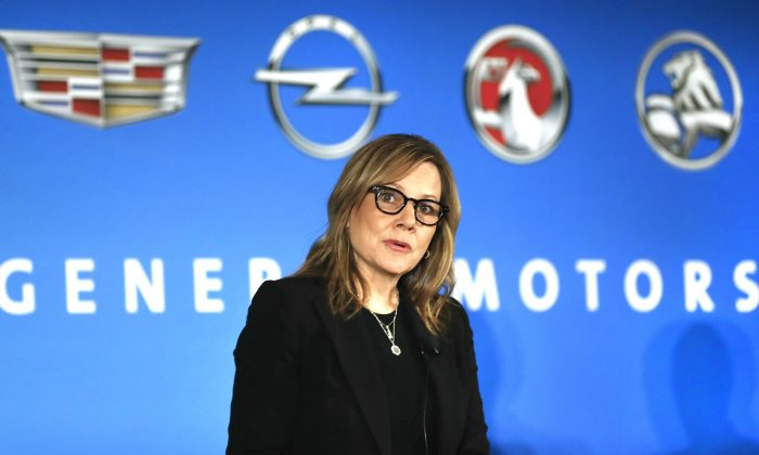 In this Jan. 10, 2017, file photo, General Motors Chairman and CEO Mary Barra speaks about the financial outlook of the automaker in Detroit. On Tuesday GM confirmed the company will make a $1 billion investment in its factories that will create or keep around 1,500 jobs on Jan. 17, 2017. (AP Photo/Paul Sancya, File)