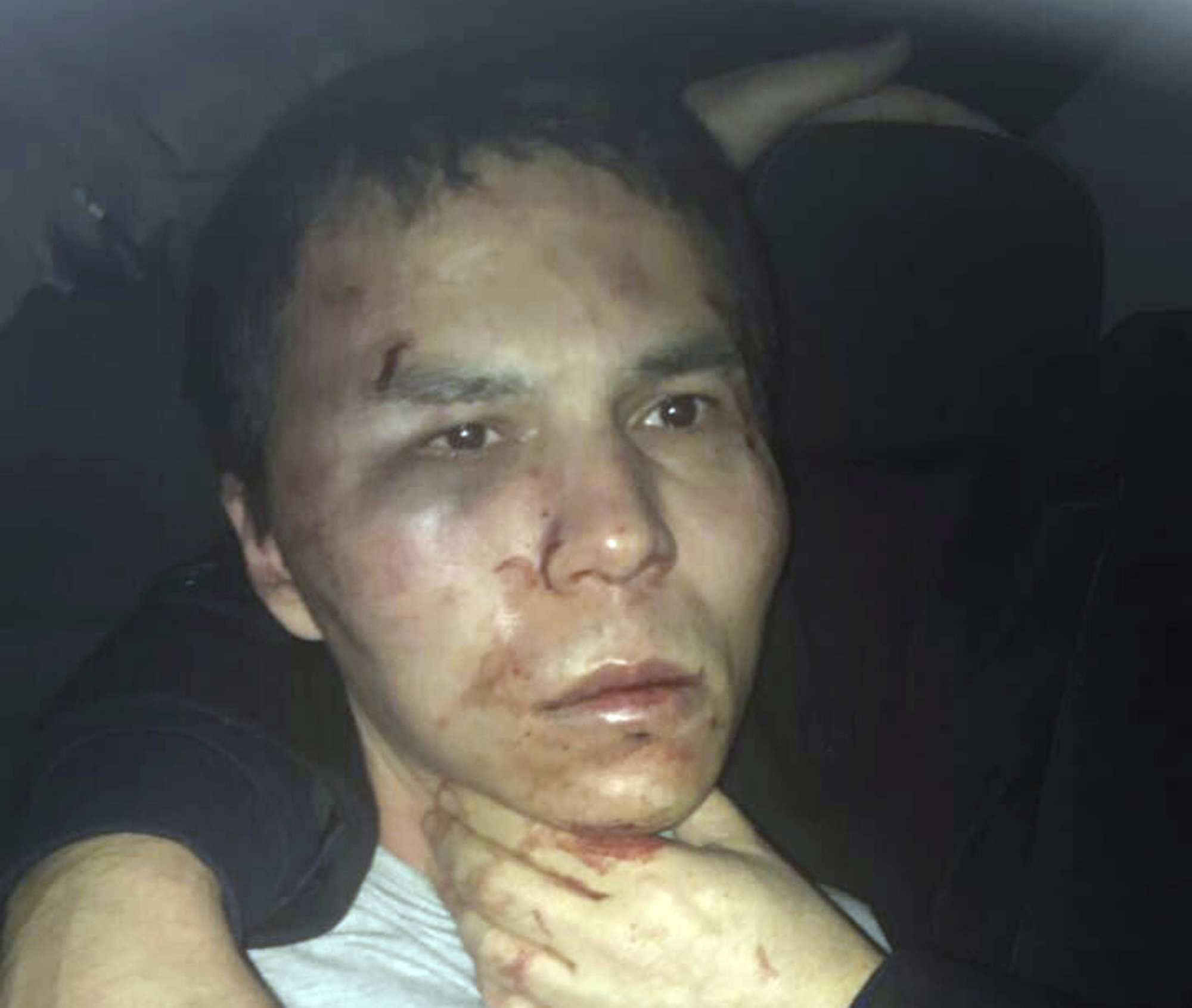 Reina club attacker after being caught by Turkish police in Istanbul on Jan. 16, 2017. (Depo Photos via AP)