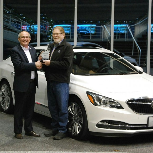 (Left: Mike Speranzini, brand director, Buick Canada, Right: David Taylor, CCOTY Committee Member) (David Taylor)
