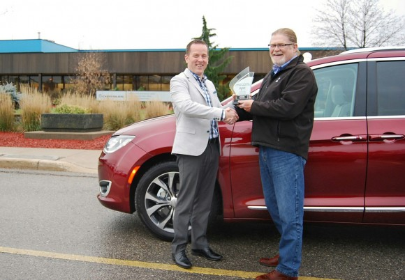 (Left: Bradley Horn, Product Communications, FCA Canada, Right: David Taylor, CCOTY Committee Member) (David Taylor)
