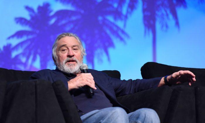 "Actor Robert De Niro speaks at the Closing Night Screening of ""The Comedian"" at the 28th Annual Palm Springs International Film Festival in Palm Springs, California on Jan. 15, 2017. (Vivien Killilea/Getty Images for Palm Springs International Film Festival )"