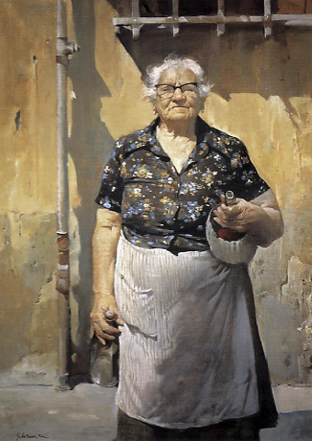 """Signora"" by Burton Silverman (Courtesy of Burton Silverman)"