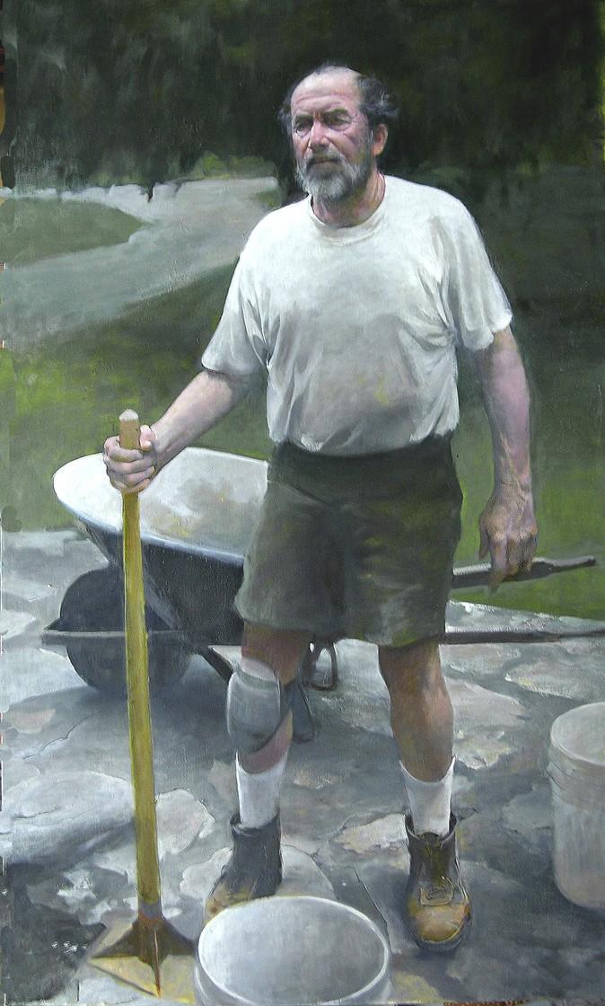 """The Stonemason,"" by Burton Silverman (Courtesy of Burton Silverman)"