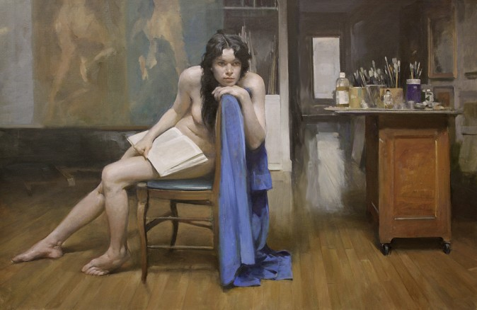 """Triptych"" by Burton Silverman (Courtesy of Burton Silverman)"