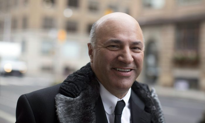 Kevin O'Leary arrives at the CTV studio in Toronto on Jan. 18, 2017, the day he announced is running for leadership of the Conservative party. (The Canadian Press/Chris Young)