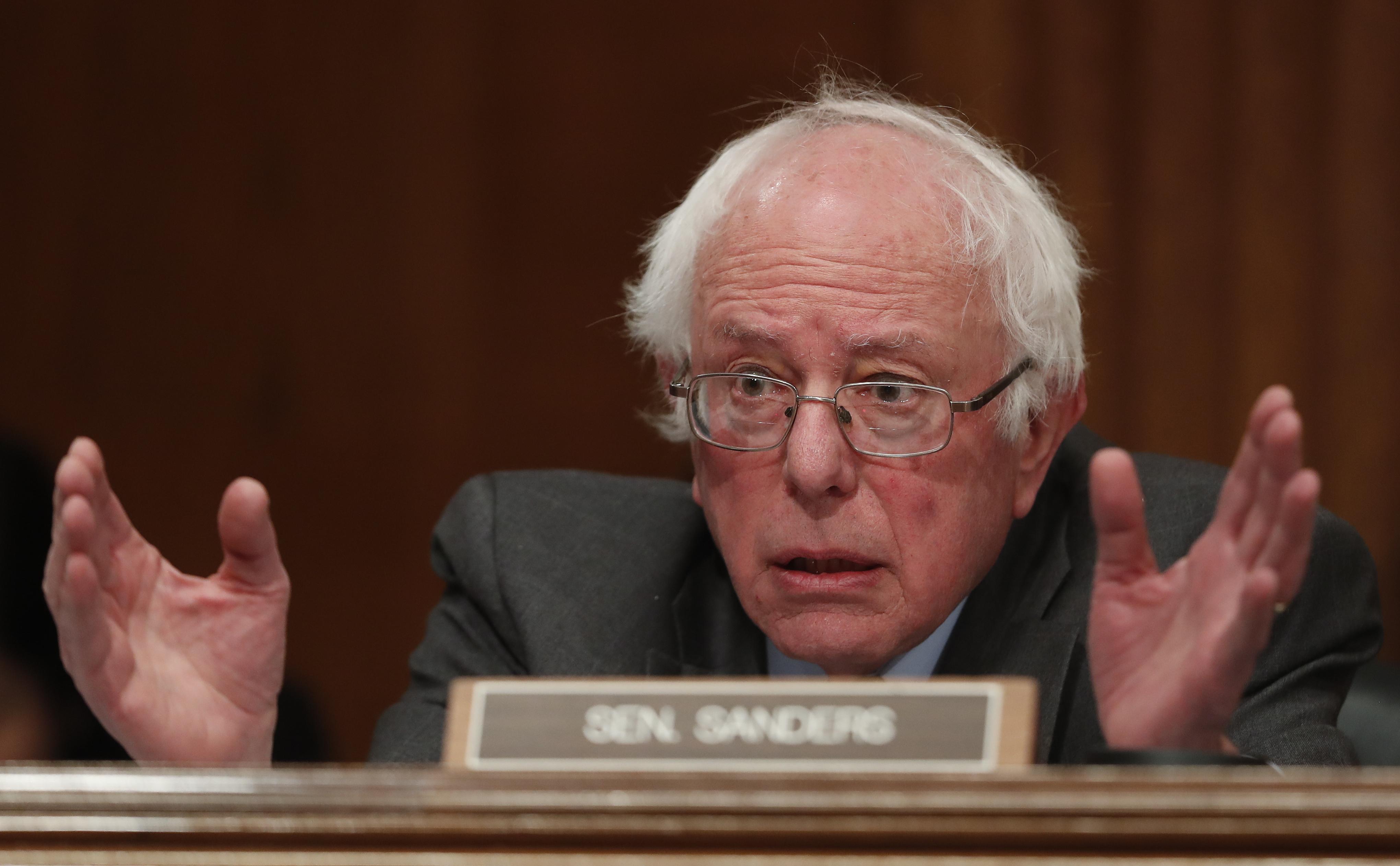 Senate Environment and Public Works Committee member Sen. Bernard Sanders, I-Vt. on Capitol Hill in Washington on Jan. 18, 2017. (AP Photo/Carolyn Kaster)