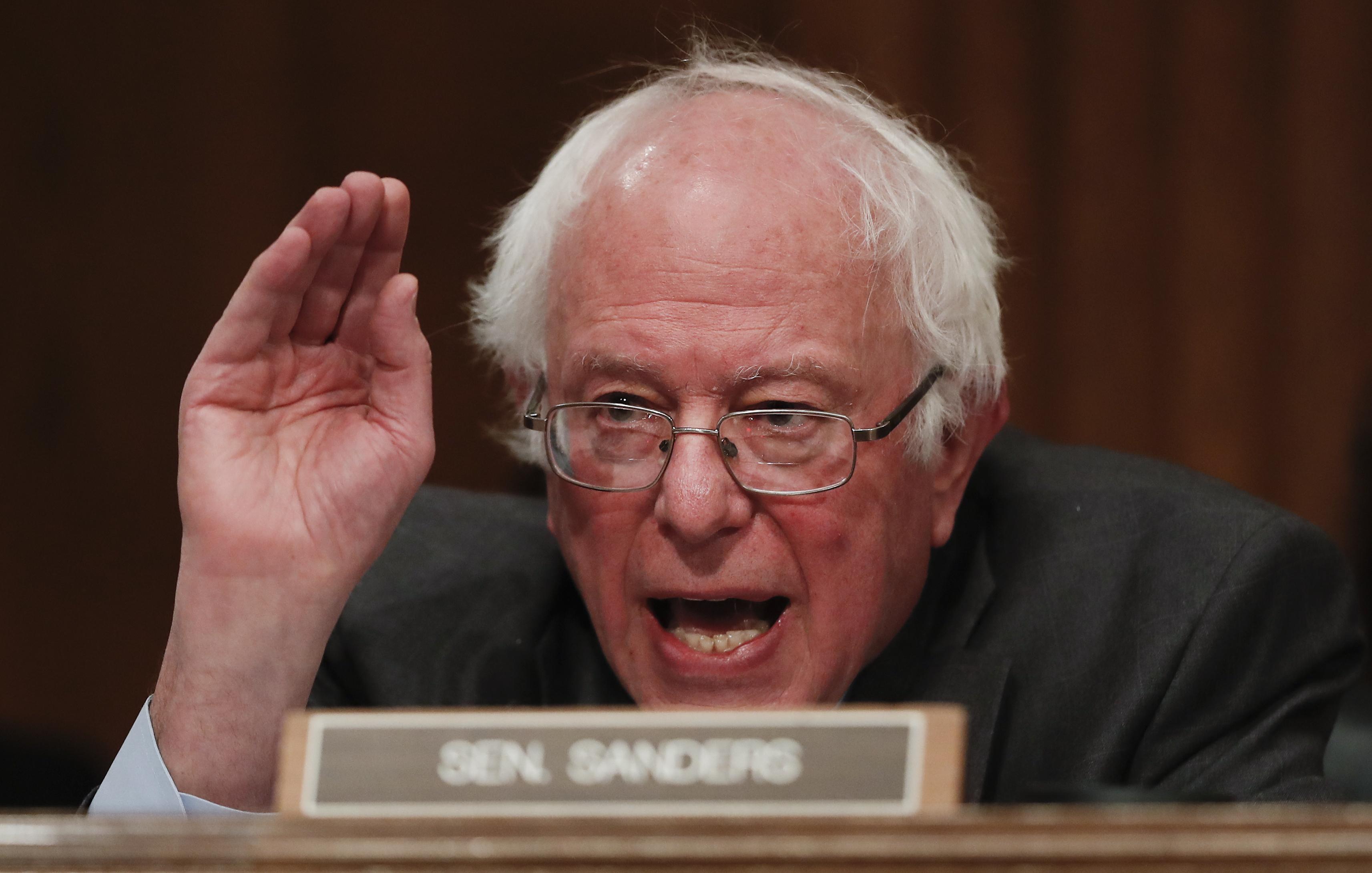 Senate Environment and Public Works Committee member Sen. Bernard Sanders, I-Vt. speaks on Capitol Hill in Washington on Jan. 18, 2017. (AP Photo/Carolyn Kaster)