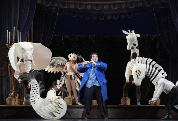 "Tenor Andrew Haji as Tamino in the Canadian Opera Company's production of ""The Magic Flute,"" 2017. (Michael Cooper)"