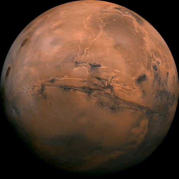 This image provided by NASA shows the planet Mars. (NASA via AP)