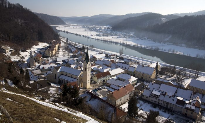 General view of the town of Sevnica, Slovenia on Jan. 20, 2017. The inauguration of Donald Trump is a big thing for a small town in Slovenia where the future U.S. first lady traces her roots. Starting Friday, the industrial town of Sevnica plans three days of events to mark the inauguration and welcome all guests wishing to see where Melania Trump grew up. (AP Photo/Darko Bandic)