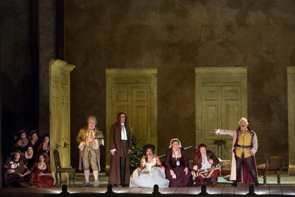 """A scene from """"Il Barbiere di Siviglia,"""" at the Metropolitan Opera. (Marty Sohl/Metropolitan Opera)"""