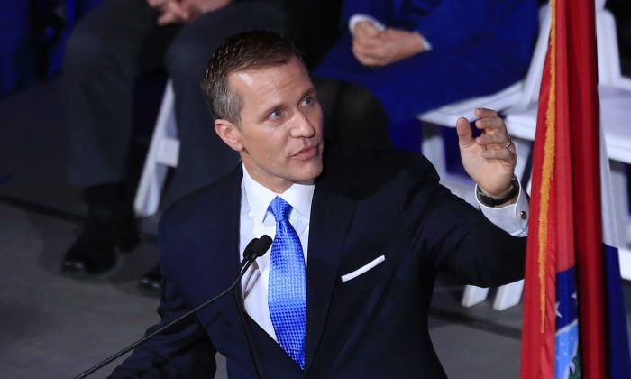 Missouri Gov.-elect Eric Greitens speaks in Jefferson City, Mo., in this file photo. (Orlin Wagner/AP Photo)
